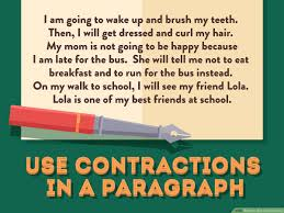 Contraction Chart Grammar How To Use Contractions 12 Steps With Pictures Wikihow