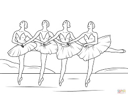 Small Picture Swan Lake Ballet coloring page Free Printable Coloring Pages