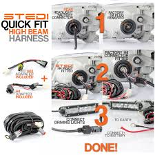 plug and play quick fit to high beam wiring harness quick
