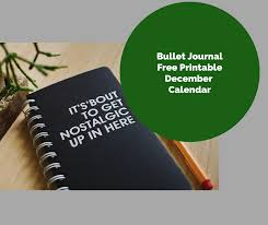 Free Printable Bullet Journal December Calendar