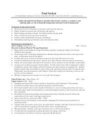 Ideas Of Resume Objective Examples Political Science Resume