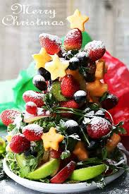 fruit christmas tree.  Christmas Fruit Christmas Tree  Beautiful And Festive Made With Fresh  Fruit To