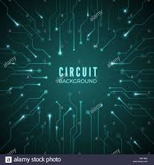 Motherboard Design Abstract Circuit Background Technological Banner Design Of