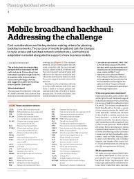 wave broadband technical support mobile broadband backhaul addressing the challenge