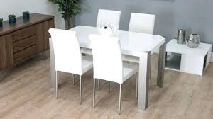 white leather dining room chairs. Modern White Dining Room Chairs Minimalist With Simple Square Table Leather