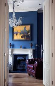 white fireplace mantel with standard height a beautiful painting with black frame as wall art navy