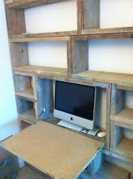 used industrial furniture. bookcasedesk made from used scaffold boards industrial furniture