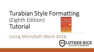 Conquer Turabian Formatting