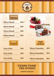 Menu Flyer Template Bakery Menu Flyer Template By Adimasen GraphicRiver 3