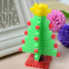 Amazoncom Perler Beads Christmas Tree Activity Kit With Pegboard Perler Beads Christmas Tree