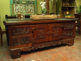 Carved Indonesian Buffet with Drawers from GadoGadocom Indonesian  Furniture  Bali Furniture
