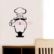 stickers kitchen chef cook vinyl wall sticker decals murals tile wall art restaurant wallpaper home decor on home decorating stick on wall art with stickers kitchen chef cook vinyl wall sticker decals murals tile