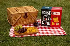 Cheez Its Dual Box Comes With House Red Wine And Crackers