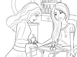 Pictures Of Barbie Coloring Pages Dpalaw