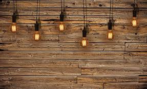 Wood With Lights Light Bulbs Wood Plankets Wallpaper Mural