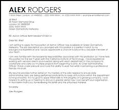 Admin Officer Cover Letter Sample Cover Letter Templates Examples