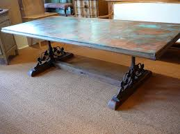 collection in iron and wood dining table unusual copper iron and wood dining tablesold