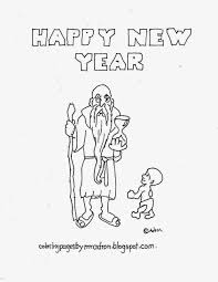 Happy New Year Coloring Page See