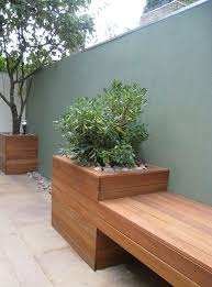 garden bench planter box. #pinmydreambackyard i love the way this sleek bench flows into and becomes a planter. garden planter box c
