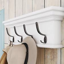 Wall Hung Coat Racks Extraordinary Breakwater Bay Belle Isle Wall Mounted Coat Rack Reviews Wayfair