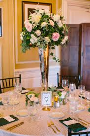 Art Deco Wedding Centerpieces Crane Estate Wedding Florist Shane Godfrey Photography Art