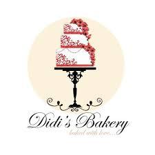 Custom Logo Design Premade Bakery Logo Red Flowers Cake Logo