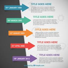 Timeline Infographic With Arrows Vector Free Download