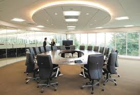 elegant round conference table design suitable for eighteen people