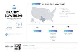 Brandy L Bowerman, (903) 732-9997, 313 Cripple Crk, Powderly, TX ...