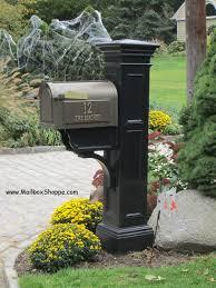 mailbox posts metal. Bronze Whitehall On Black Liberty Mailbox Post Posts Metal