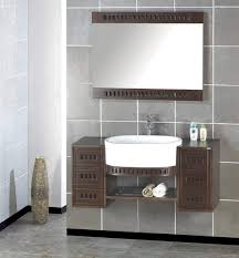 White Wood Bathroom Vanity Artistic Wooden Bathroom Cabinets Feats White Sink And Mirror On