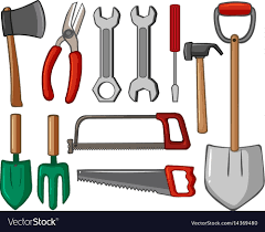 diffe types of hand tools vector image