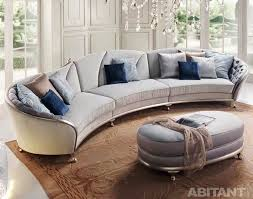 Round And Curved Sofa With Original Accent Furniture Kerala Home Rounded  Sectional Sofa