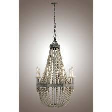 chandeliers pottery barn clarissa crystal drop round chandelier decomust wooden pottery barn wood bead pendant