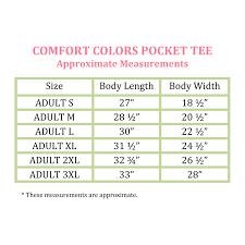 Comfort Colors Shirt Size Chart Monogrammed Comfort Colors Pocket T Shirt Midnight
