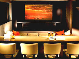 basement theater ideas. Music Theme Wall Poster Brown Paint Basement Home Theater Ideas Zebra Motif Leather Lounge Chair Room Decor Awesome