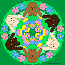 Easter Bunny Mandala Coloring Pages Easter