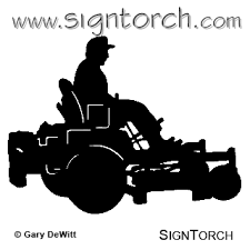 commercial lawn mower silhouette. riding lawn mower silhouette clipart commercial i