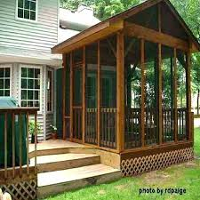 screened porch kits screen room kit for wooden deck design house patio french doors half