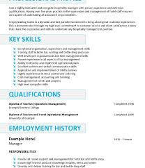 Resume Objective Examples For Hospitality Of Resumes Throughout ...