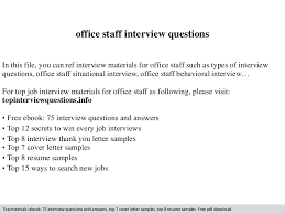 Sample Resume Questions officestaffinterviewquestions100phpapp100thumbnail100jpgcb=11000990210036 15