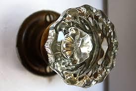 vintage glass door knob 1