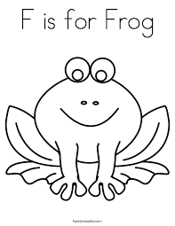 Small Picture F is for Frog Coloring Page Twisty Noodle