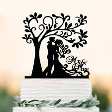 Acrylic Bride Groom Cake Topper S Tree Wedding Party Decoration