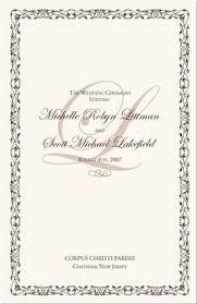 Wedding Ceremony Program Cover 12 Best Wedding Church Programs Images Wedding Ceremonies