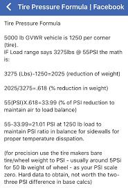Toyo Tire Pressure Chart Correct Tire Pressure For Street Page 2 Jeep Wrangler Forum