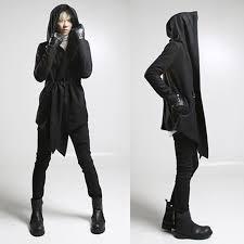 gothic men 039 s retro asymmetric hooded long