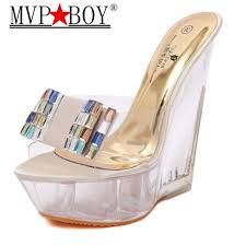 <b>MVP BOY Summer</b> Women Shoes Special <b>Crystal</b> Wedges With ...