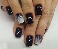 18 awesome winter black nails art designs ideas