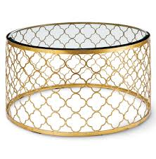 gable hollywood regency glass gold leaf round coffee table kathy